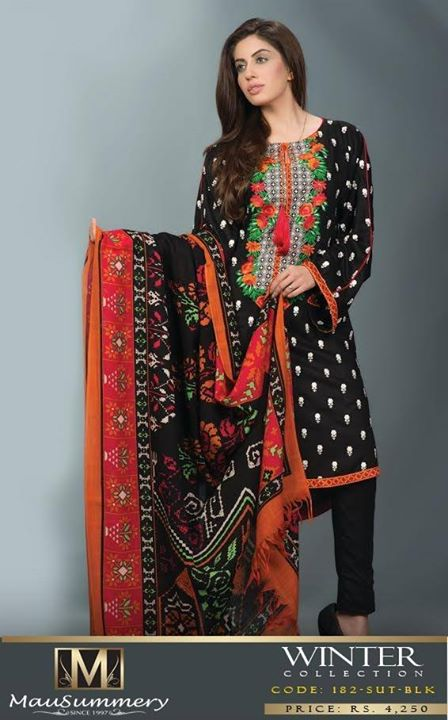 Mausummery Fall winter Dresses Collection 2014-15 with Prices for women (4)