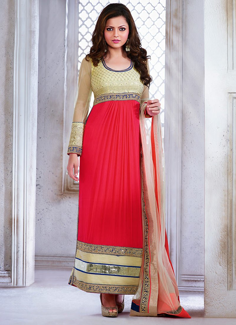 New Indian Kalidar Suits Salwar Kameez Dresses Collection for Girls 2014-2015 (11)