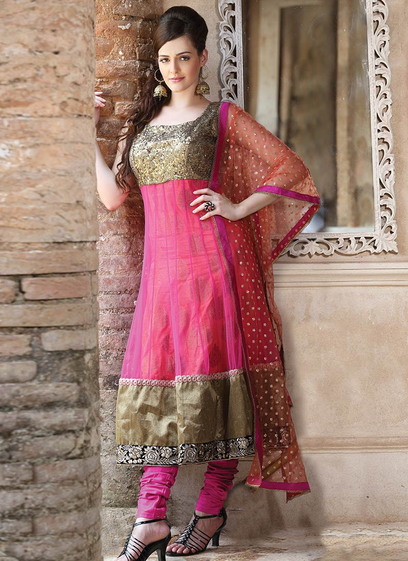 New Indian Kalidar Suits Salwar Kameez Dresses Collection for Girls 2014-2015 (19)