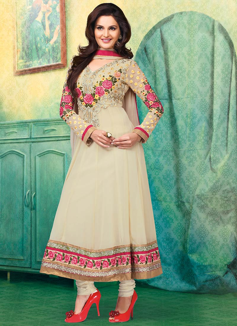 New Indian Kalidar Suits Salwar Kameez Dresses Collection for Girls 2014-2015 (24)
