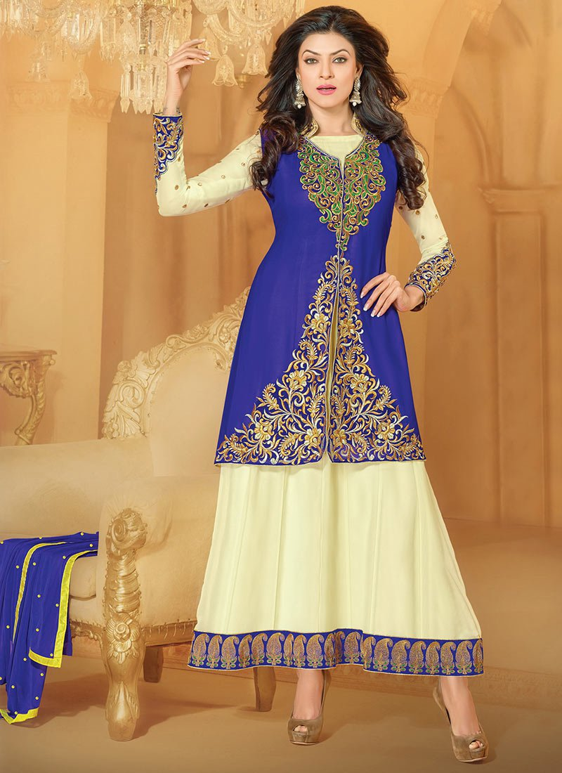 New Indian Kalidar Suits Salwar Kameez Dresses Collection for Girls 2014-2015 (8)