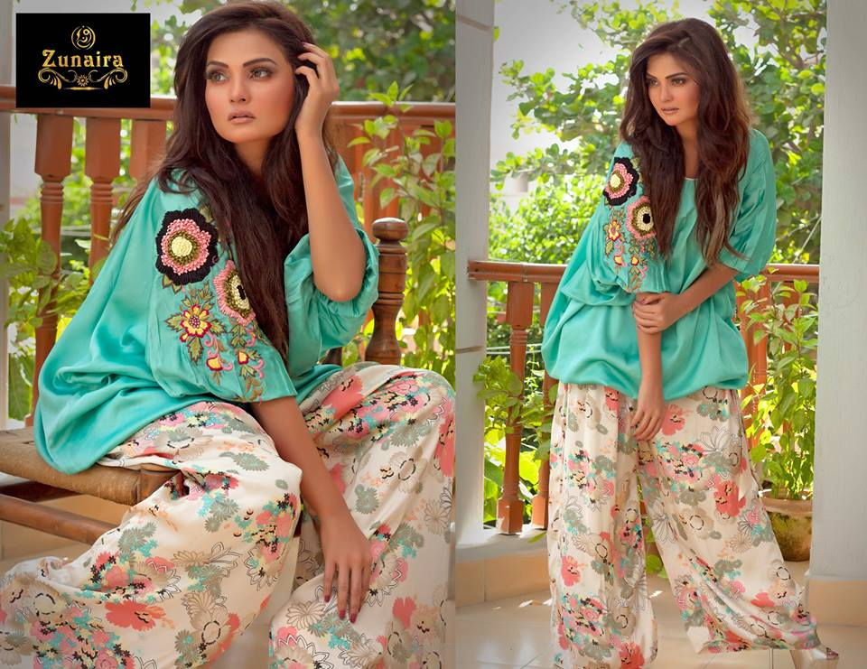 New Trends of Women Fashion Kurtis with Palazzo Pants in Asian Countries for Girls 2014-2015 (1)