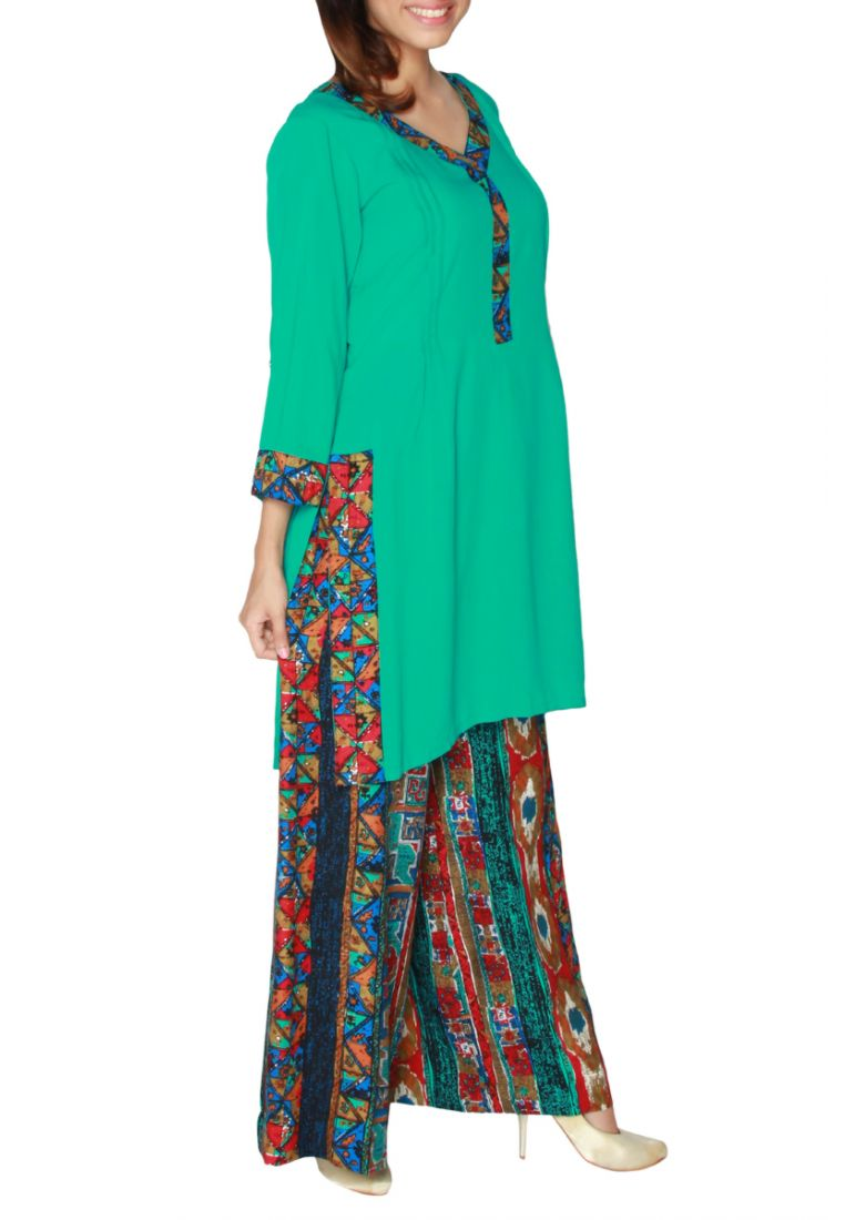 New Trends of Women Fashion Kurtis with Palazzo Pants in Asian Countries for Girls 2014-2015 (65)