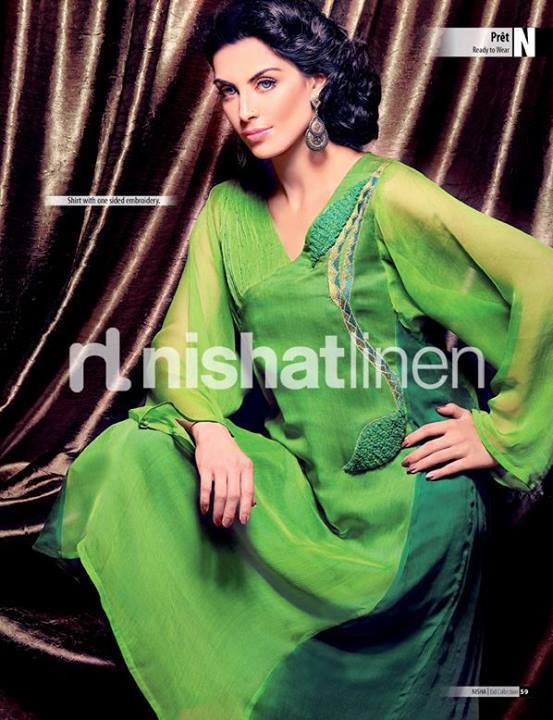 Nishat Linen Latest Winter Dresses Collection for Women 2014-2015 (16)
