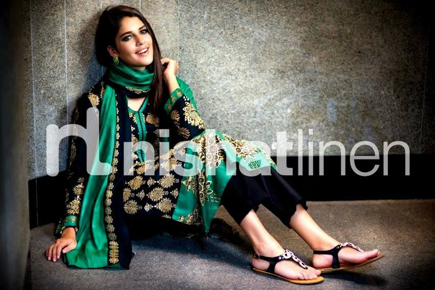 Nishat Linen Latest Winter Dresses Collection for Women 2014-2015 (4)