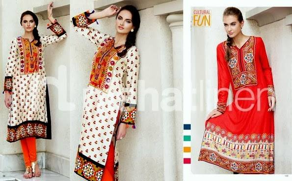 Nishat Linen Latest Winter Dresses Collection for Women 2014-2015 (5)
