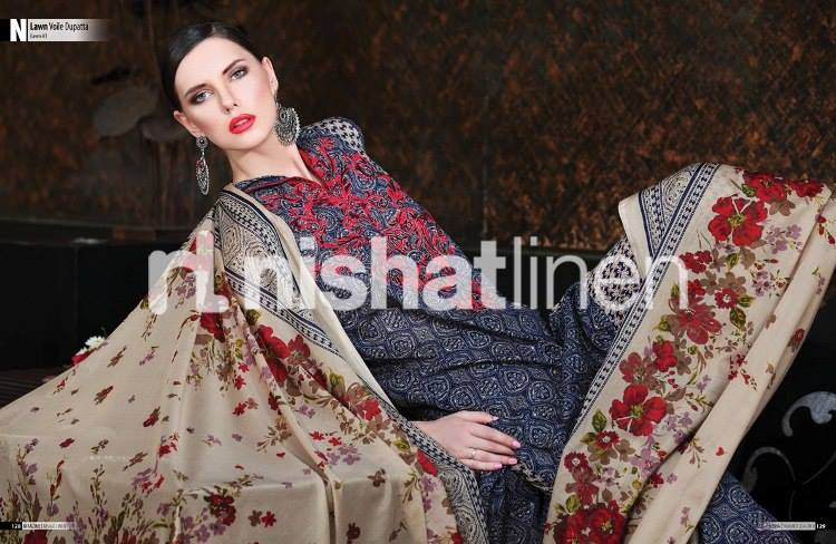 Nishat Linen Latest Winter Dresses Collection for Women 2014-2015 (8)
