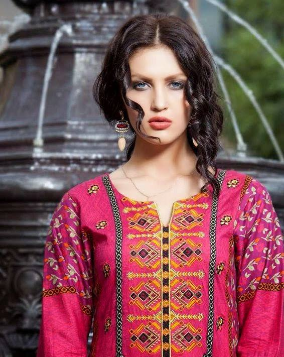 Rabea by Shariq Textiles Linen Kurti Collection 2014-15 for Girls (10)