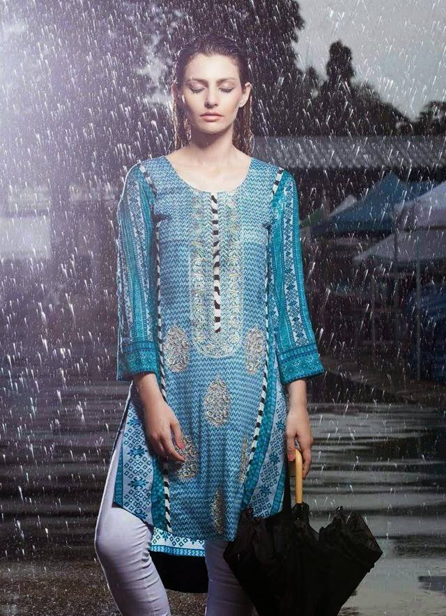 Rabea by Shariq Textiles Linen Kurti Collection 2014-15 for Girls (11)