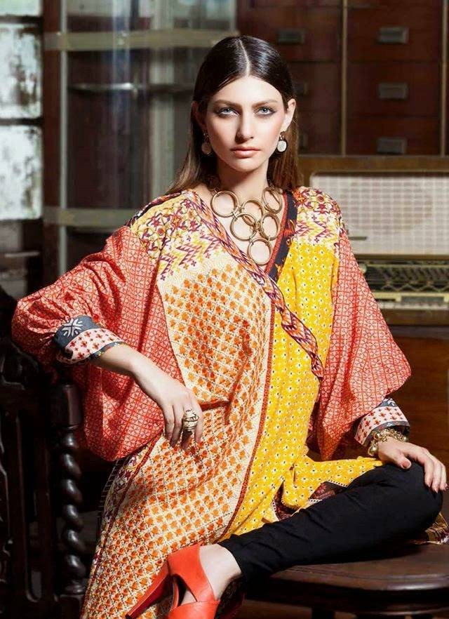 Rabea by Shariq Textiles Linen Kurti Collection 2014-15 for Girls (12)