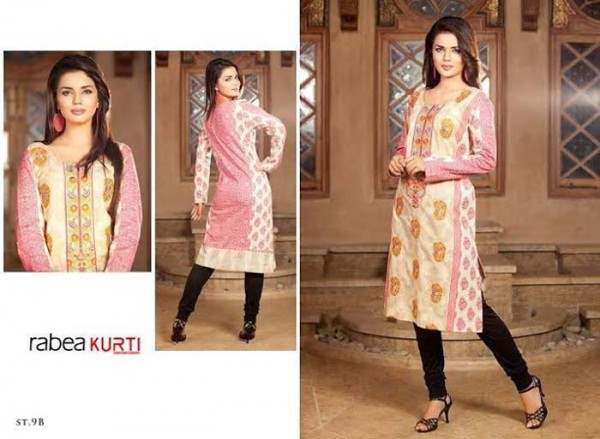 Rabea by Shariq Textiles Linen Kurti Collection 2014-15 for Girls (13)