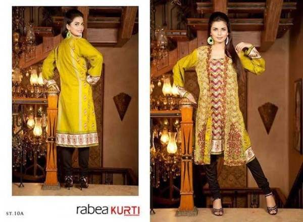 Rabea by Shariq Textiles Linen Kurti Collection 2014-15 for Girls (15)