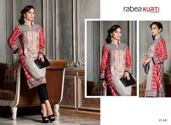 Rabea by Shariq Textiles Linen Kurti Collection 2014-15 for Girls (16)
