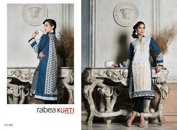 Rabea by Shariq Textiles Linen Kurti Collection 2014-15 for Girls (17)