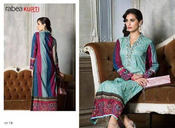 Rabea by Shariq Textiles Linen Kurti Collection 2014-15 for Girls (18)