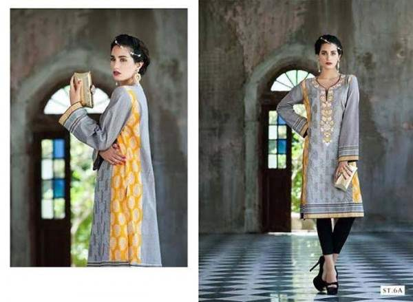 Rabea by Shariq Textiles Linen Kurti Collection 2014-15 for Girls (19)