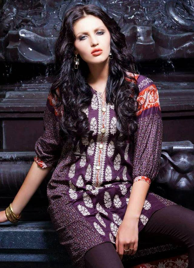 Rabea by Shariq Textiles Linen Kurti Collection 2014-15 for Girls (2)
