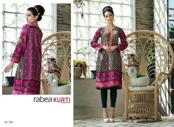 Rabea by Shariq Textiles Linen Kurti Collection 2014-15 for Girls (21)