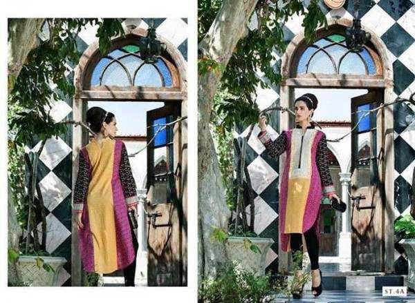 Rabea by Shariq Textiles Linen Kurti Collection 2014-15 for Girls (23)