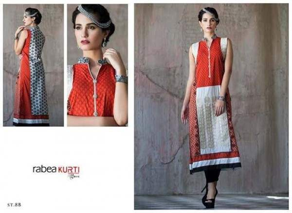 Rabea by Shariq Textiles Linen Kurti Collection 2014-15 for Girls (24)