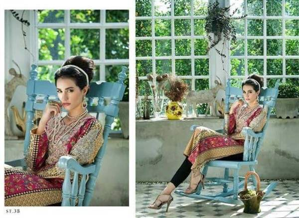 Rabea by Shariq Textiles Linen Kurti Collection 2014-15 for Girls (25)