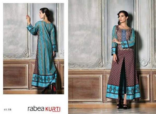 Rabea by Shariq Textiles Linen Kurti Collection 2014-15 for Girls (26)