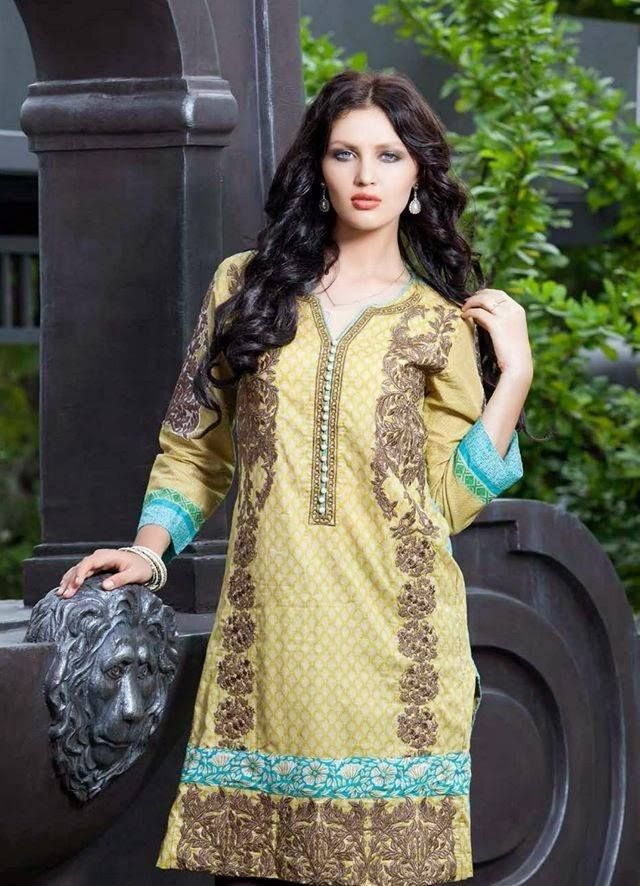 Rabea by Shariq Textiles Linen Kurti Collection 2014-15 for Girls (3)