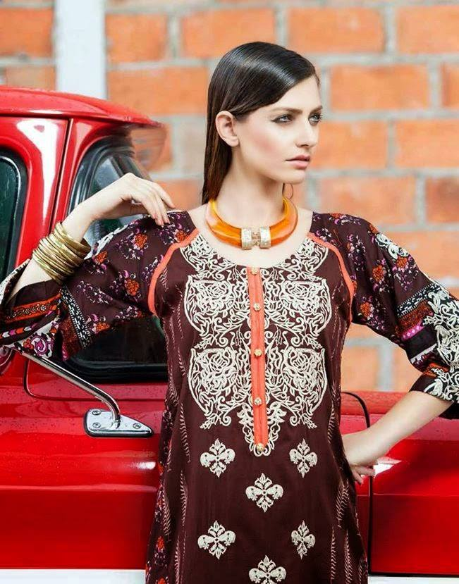 Rabea by Shariq Textiles Linen Kurti Collection 2014-15 for Girls (30)