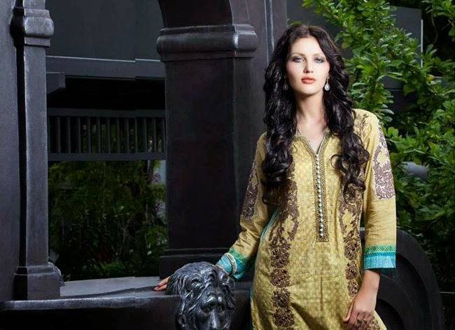 Rabea by Shariq Textiles Linen Kurti Collection 2014-15 for Girls (31)