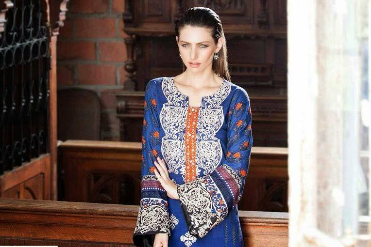 Rabea by Shariq Textiles Linen Kurti Collection 2014-15 for Girls (5)