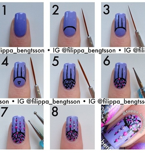 Step by Step Nail Art Picture Tutorial Best and Easy Designs To Try (10)
