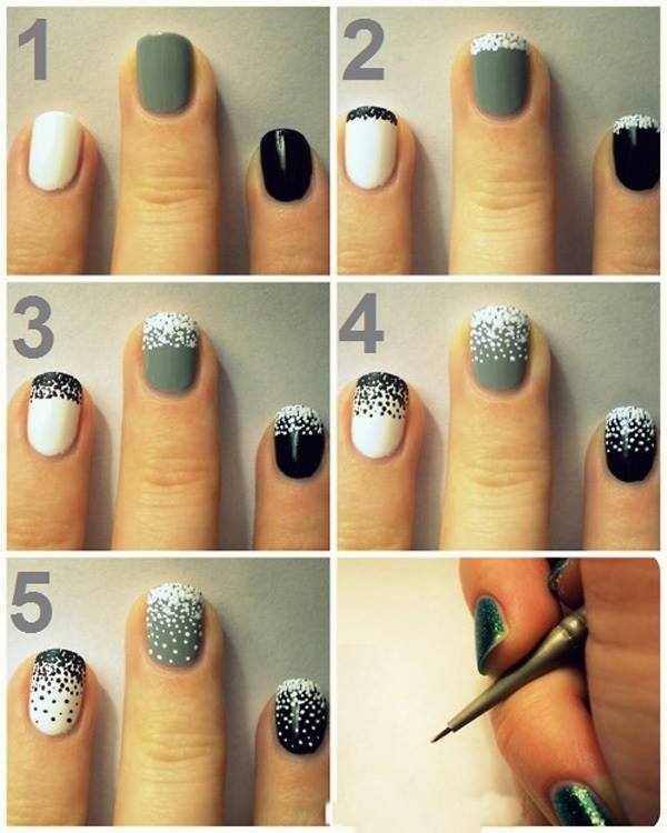 Step by Step Nail Art Picture Tutorial Best and Easy Designs To Try (15)