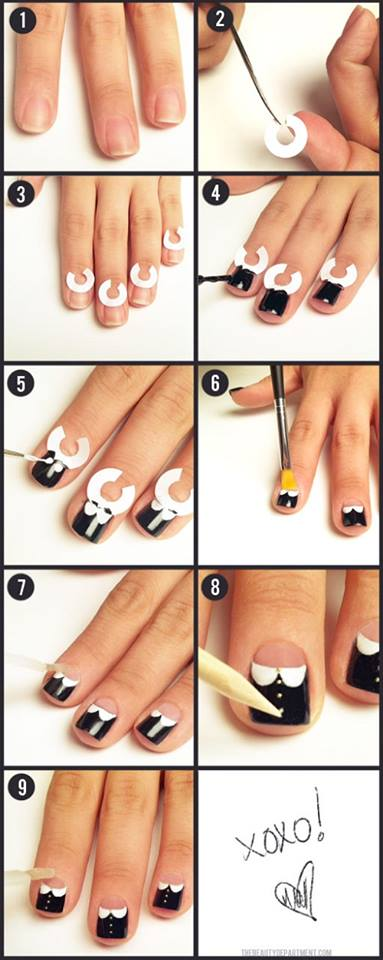 Step by Step Nail Art Picture Tutorial Best and Easy Designs To Try (21)