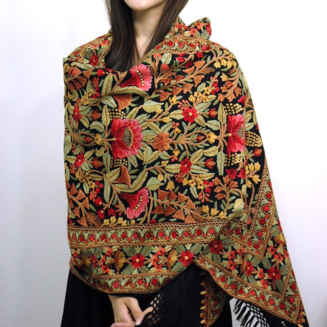 Kashmiri Shawls Collection Latest Winter Designs & Styles for Women 2015-2016 (12)
