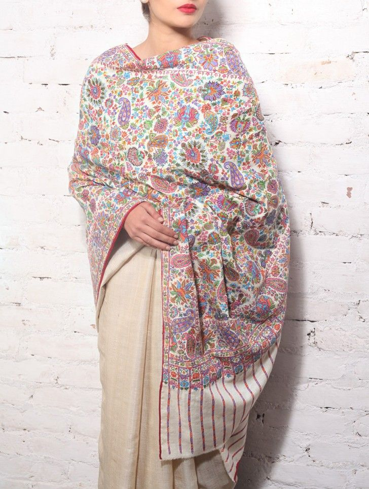 Kashmiri Shawls Collection Latest Winter Designs & Styles for Women 2015-2016 (26)