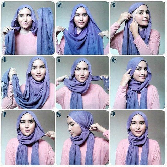 Latest Hijab Style DesignTrends & Tutorial For Girls 2015-2016 with Pictures (14)