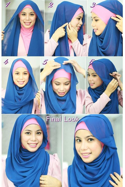 Latest Hijab Style DesignTrends & Tutorial For Girls 2015-2016 with Pictures (43)