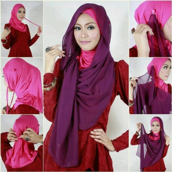 Latest Hijab Style DesignTrends & Tutorial For Girls 2015-2016 with Pictures (7)