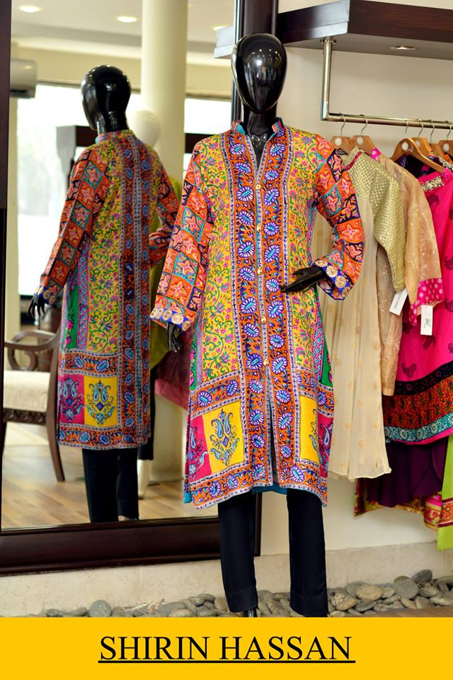 New Digital Kurtis & Suits By Shirin Hassan Winter Collection 2015 (5)