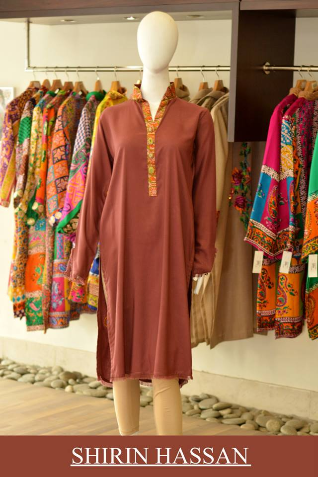 New Digital Kurtis & Suits By Shirin Hassan Winter Collection 2015 (8)