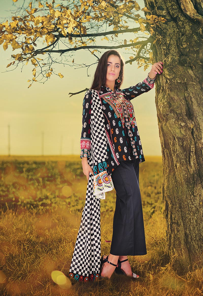 Orient Textile Latest Fall Winter Trendy Shawl Dress Series for Women 2014-2015 (17)