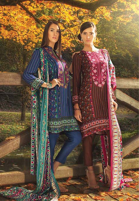 Orient Textile Latest Fall Winter Trendy Shawl Dress Series for Women 2014-2015 (19)