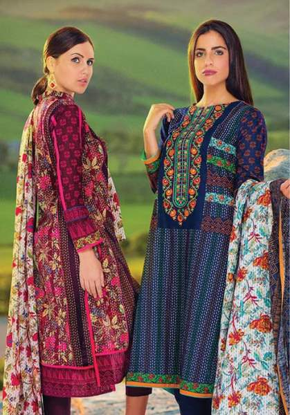 Orient Textile Latest Fall Winter Trendy Shawl Dress Series for Women 2014-2015 (21)