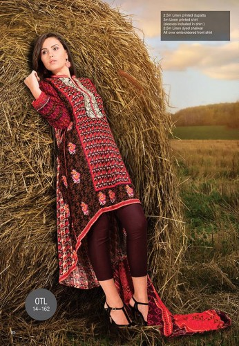 Orient Textile Latest Fall Winter Trendy Shawl Dress Series for Women 2014-2015 (24)