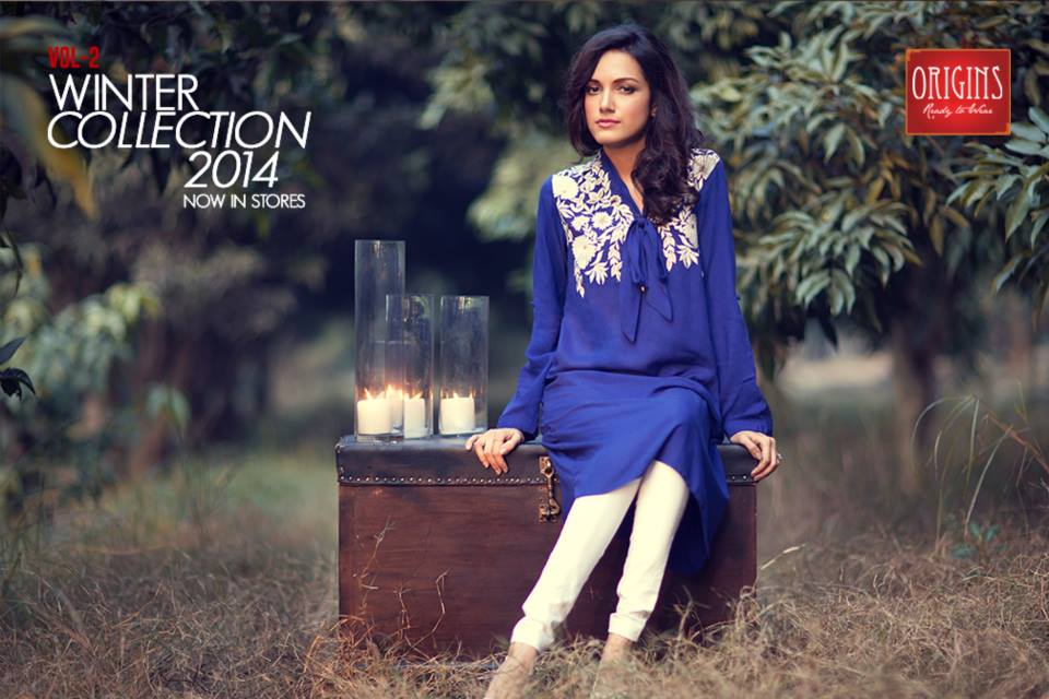 Origins Latest Winter Collection Trendy Dresses for Modern Women 2015-2016 (5)