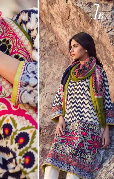 Sana Safinaz Latest Winter Shawls Collection Designer Ready Made Dresses for Women 2014-2015 (12)