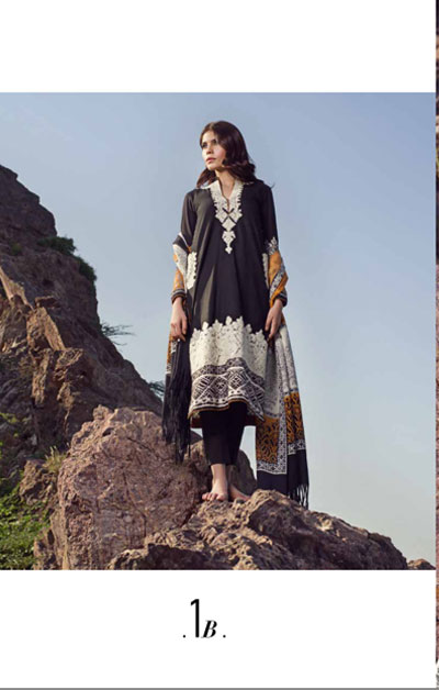 Sana Safinaz Latest Winter Shawls Collection Designer Ready Made Dresses for Women 2014-2015 (21)