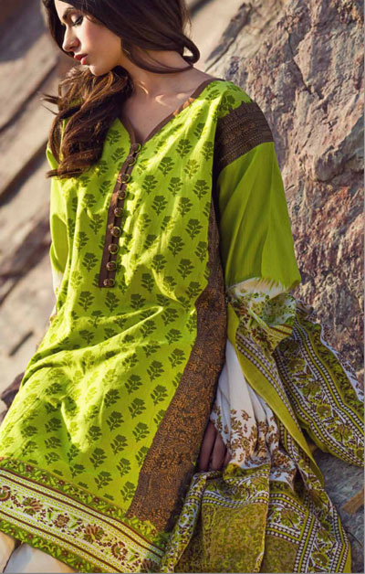 Sana Safinaz Latest Winter Shawls Collection Designer Ready Made Dresses for Women 2014-2015 (23)