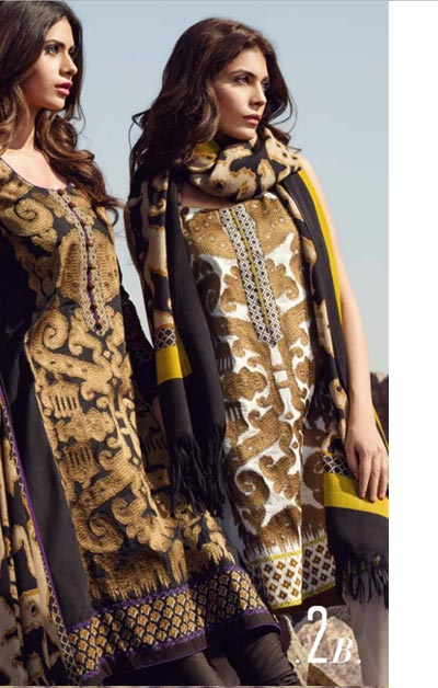 Sana Safinaz Latest Winter Shawls Collection Designer Ready Made Dresses for Women 2014-2015 (3)