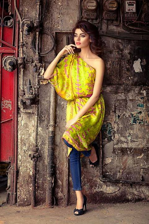 Sana Safinaz Latest Winter Shawls Collection Designer Ready Made Dresses for Women 2014-2015 (34)